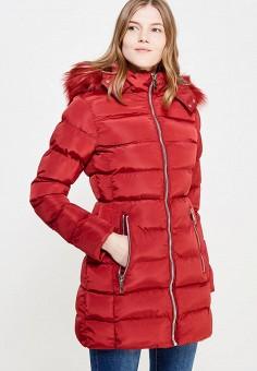 Куртка утепленная, Fascinate, цвет: красный. Артикул: FA042EWWRT33. Одежда / Верхняя одежда