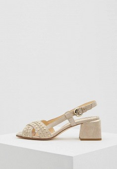 Босоножки, Fabi, цвет: бежевый. Артикул: FA075AWZUA28. Premium / Обувь / Босоножки