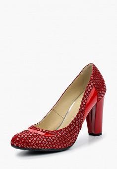 Туфли, Federica Bassi, цвет: красный. Артикул: FE026AWBLWK5. Обувь / Туфли / Закрытые туфли