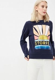 Свитшот, Femi Stories, цвет: синий. Артикул: FE027EWBQQM7. Одежда / Толстовки и свитшоты