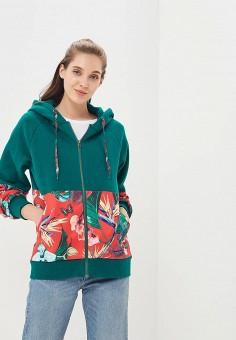 Толстовка, Femi Stories, цвет: зеленый. Артикул: FE027EWBQQU1. Одежда / Толстовки и свитшоты