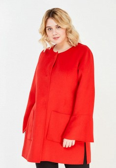 Пальто, Fiorella Rubino, цвет: красный. Артикул: FI013EWYRF15. Одежда / Верхняя одежда