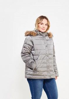 Куртка утепленная, Fiorella Rubino, цвет: серый. Артикул: FI013EWYZF39. Одежда / Верхняя одежда