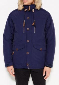 Куртка утепленная, Five Seasons, цвет: синий. Артикул: FI615EMXBI50. Одежда / Верхняя одежда / Пуховики и зимние куртки