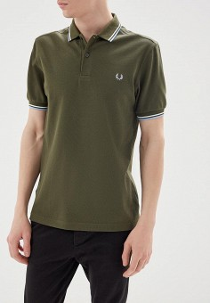 Поло, Fred Perry, цвет: хаки. Артикул: FR006EMZZX68. Fred Perry