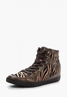 Кеды на танкетке, Francesco Milano, цвет: коричневый. Артикул: FR037AWFNO81. Обувь / Кроссовки и кеды / Кеды