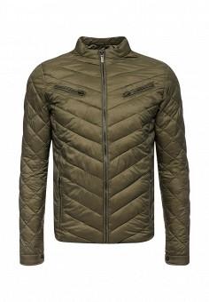 Пуховик, Fresh Brand, цвет: хаки. Артикул: FR040EMYDM27. Мужская одежда / Верхняя одежда / Пуховики и зимние куртки