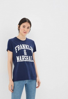 Футболка, Franklin & Marshall, цвет: синий. Артикул: FR949EWAMDD6. Одежда
