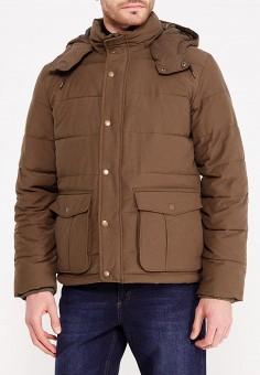 Куртка утепленная, Gap, цвет: хаки. Артикул: GA020EMWXU33. Одежда / Верхняя одежда / Пуховики и зимние куртки