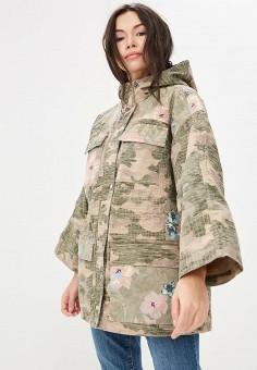 Парка, Gap, цвет: хаки. Артикул: GA020EWAKOB7. Одежда / Верхняя одежда / Легкие куртки и ветровки