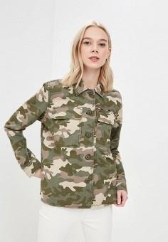 Куртка, Gap, цвет: хаки. Артикул: GA020EWAKPK0. Одежда / Верхняя одежда / Легкие куртки и ветровки