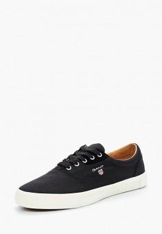 Кеды, Gant, цвет: черный. Артикул: GA121AMADKZ4. Обувь / Кроссовки и кеды / Кеды