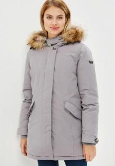 Пуховик, Gas, цвет: серый. Артикул: GA340EWCARI9. Одежда / Верхняя одежда / Зимние куртки