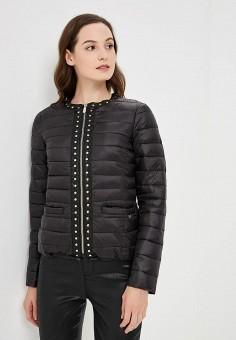 Пуховик, Gaudi, цвет: черный. Артикул: GA629EWCGAJ5. Одежда / Верхняя одежда / Зимние куртки