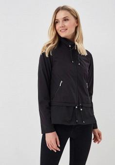 Куртка, Gerry Weber, цвет: черный. Артикул: GE002EWBDDK2. Одежда / Верхняя одежда / Легкие куртки и ветровки