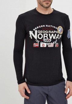 Лонгслив, Geographical Norway, цвет: черный. Артикул: GE015EMATIP5. Geographical Norway