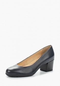 Туфли, Geox, цвет: синий. Артикул: GE347AWADCO6. Обувь / Туфли / Закрытые туфли