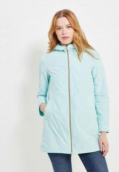 Куртка, Geox, цвет: бирюзовый. Артикул: GE347EWAOEN6. Одежда / Верхняя одежда / Парки