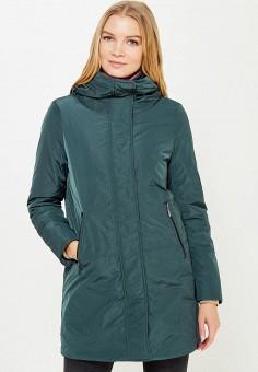 Куртка утепленная, Geox, цвет: зеленый. Артикул: GE347EWVAM25. Одежда / Верхняя одежда