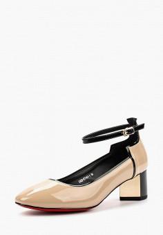 Туфли, Gene, цвет: бежевый. Артикул: GE632AWAURW5. Обувь / Туфли / Закрытые туфли