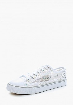 Кеды, Girlhood, цвет: белый. Артикул: GI021AWBERV2. Обувь / Кроссовки и кеды / Кеды