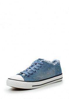 Кеды, Girlhood, цвет: голубой. Артикул: GI021AWRMX48. Обувь / Кроссовки и кеды
