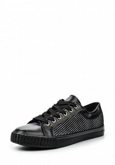 Кеды, Girlhood, цвет: черный. Артикул: GI021AWRMX50. Обувь / Кроссовки и кеды