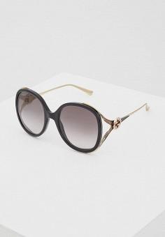 Очки солнцезащитные, Gucci, цвет  черный. Артикул  GU641DWZAS38. Аксессуары b6a45ee9fc0