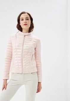 Куртка утепленная, Guess Jeans, цвет: розовый. Артикул: GU644EWBTYG3. Одежда / Верхняя одежда / Демисезонные куртки