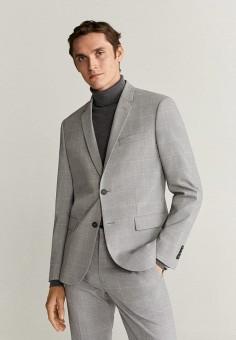 Пиджак Mango Man 67010510, цвет серый, размер