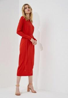 Платье, Hugo Hugo Boss, цвет: красный. Артикул: HU286EWBHPF2. Одежда / Платья и сарафаны