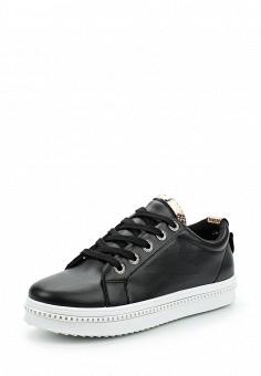 Кеды, Ideal Shoes, цвет: черный. Артикул: ID007AWANMZ4. Обувь / Кроссовки и кеды