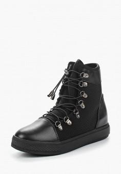 Кеды на танкетке, Ideal Shoes, цвет: черный. Артикул: ID007AWANNA6. Обувь / Кроссовки и кеды / Кеды