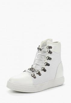 Кеды на танкетке, Ideal Shoes, цвет: белый. Артикул: ID007AWANNA9. Обувь / Кроссовки и кеды / Кеды