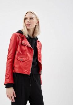 Куртка кожаная, Imperial, цвет: красный. Артикул: IM004EWAOPI2. Одежда / Верхняя одежда
