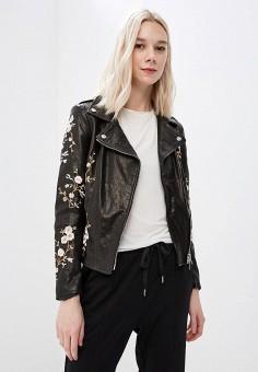 Куртка кожаная, Imperial, цвет: черный. Артикул: IM004EWAOPI4. Одежда / Верхняя одежда
