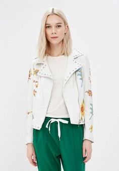 Куртка кожаная, Imperial, цвет: белый. Артикул: IM004EWAOPI5. Одежда / Верхняя одежда
