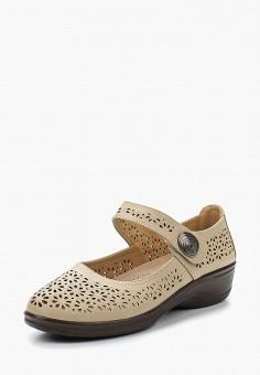 Туфли, Instreet, цвет: бежевый. Артикул: IN011AWAECY3. Обувь / Туфли / Закрытые туфли