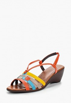 Босоножки, Instreet, цвет: бежевый, голубой, желтый, оранжевый. Артикул: IN011AWERR22. Обувь / Босоножки