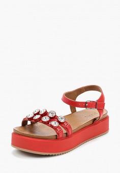 Сандалии, Inuovo, цвет: красный. Артикул: IN018AWAOKX7. Обувь / Сандалии