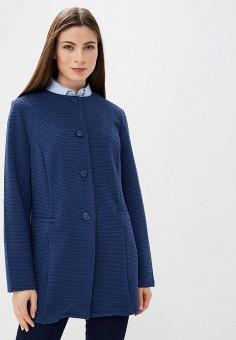 Пальто, Iwie, цвет: синий. Артикул: IW001EWAVCE0. Одежда / Верхняя одежда / Пальто