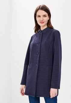 Пальто, Iwie, цвет: синий. Артикул: IW001EWAYTL4. Одежда / Верхняя одежда / Пальто