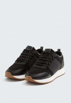 Кроссовки Pull&Bear, цвет черный, размер