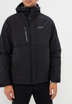 Пуховик, Jack Wolfskin, цвет: черный. Артикул: JA021EMCOFX6. Одежда / Верхняя одежда / Пуховики и зимние куртки