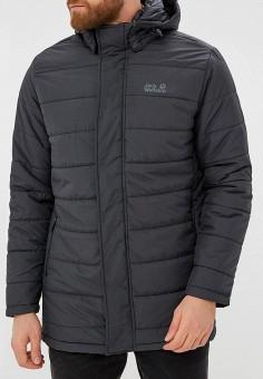 Куртка утепленная, Jack Wolfskin, цвет: черный. Артикул: JA021EMCOGI1. Одежда / Верхняя одежда / Пуховики и зимние куртки