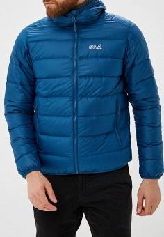 Пуховик, Jack Wolfskin, цвет: синий. Артикул: JA021EMCOGJ7. Одежда / Верхняя одежда / Пуховики и зимние куртки