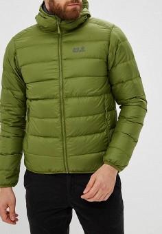 Пуховик, Jack Wolfskin, цвет: зеленый. Артикул: JA021EMCOGJ8. Одежда / Верхняя одежда / Пуховики и зимние куртки