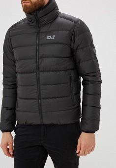Пуховик, Jack Wolfskin, цвет: черный. Артикул: JA021EMCOGK0. Одежда / Верхняя одежда / Пуховики и зимние куртки