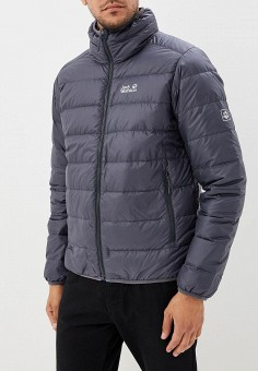 Пуховик, Jack Wolfskin, цвет: серый. Артикул: JA021EMCOGK1. Одежда / Верхняя одежда / Пуховики и зимние куртки
