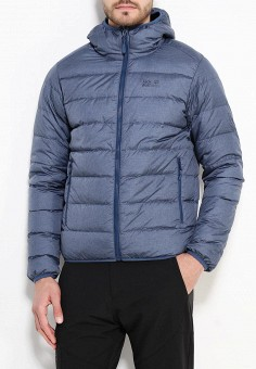 Пуховик, Jack Wolfskin, цвет: синий. Артикул: JA021EMKHQ37. Одежда / Верхняя одежда / Пуховики и зимние куртки